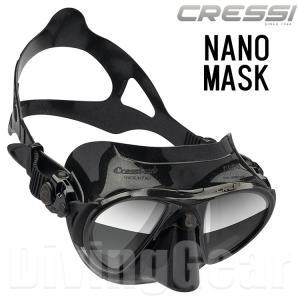 Cressi(クレッシー) NANO BLACK ナノマスク ブラックシリコン (ミラーレンズ仕様)