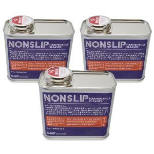 ノンスリップ NONSLIP mini 300ml×3個セット 体育館 床 メンテナンス剤 スポーツフロア GRIP フローリング グリップ 強化 GRMC101-mini すべり止め|diy-helper