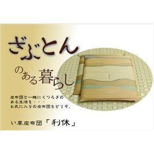 売れ筋 純国産 捺染返し い草座布団 利休 人気 ブラウン 55×55cm×2P 2枚組