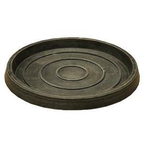 〔4個入〕 樹脂製 植木鉢用受皿 プランター用受皿 単品 〔チャコール 買取 直径26cm〕 通常便なら送料無料 ブラーシュ