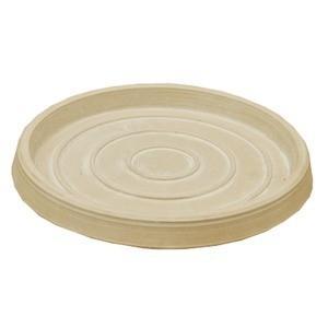 〔4個入〕 スーパーSALE セール期間限定 樹脂製 植木鉢用受皿 プランター用受皿 人気ショップが最安値挑戦 単品 〔ホワイト ブラーシュ 直径26cm〕