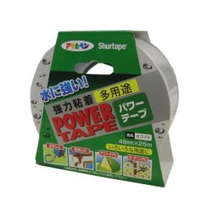防水テープ 補修テープ ダックテープ パワーテープ 48mmX25m/ホワイト/水漏れ 屋外 雨樋