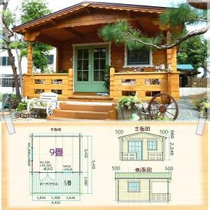 北欧直輸入!格安で快適な木の家。自転車やバイクの倉庫、ガレージにも。セルフビルドミニログハウスキット《網戸付き》【BL-M2】|diy-kithouse