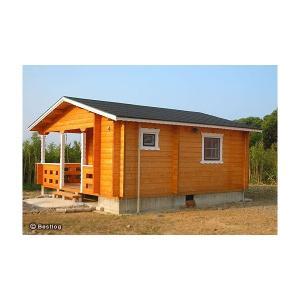 コテージ(貸別荘)や仮設住宅にお奨めログハウス。トイレやユニットバスを設置して。セルフビルドミニログハウスキット《網戸付き》【BL-M5T/価格1,362,960円】|diy-kithouse|04