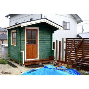 お子様とご一緒に、お庭に木の倉庫を建ててみませんか。セルフビルドミニログハウスキット【ハイド3/価格343,440円】|diy-kithouse|03