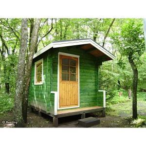 お子様とご一緒に、お庭に木の倉庫を建ててみませんか。セルフビルドミニログハウスキット【ハイド3/価格343,440円】|diy-kithouse|05