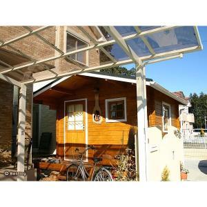 ご自宅のお庭や別荘地に建てる木製の離れ・倉庫として。5.8畳サイズ、2畳分のデッキ付。セルフビルドミニログハウスキット【ハイド6/価格527,040円】|diy-kithouse|04