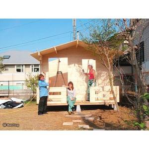 ご自宅のお庭や別荘地に建てる木製の離れ・倉庫として。5.8畳サイズ、2畳分のデッキ付。セルフビルドミニログハウスキット【ハイド6/価格527,040円】|diy-kithouse|05