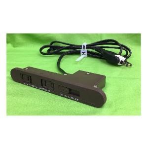 コンセント家具用2ヶ口スライドタイプNC-1522USB2A (茶色) A品 DIY|diy-support|05
