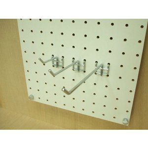 フック 有孔ボード用フック 25P用 L=50タイプ(2点掛けタイプ/5本セット)(A品L字型フック)|diy-support|02