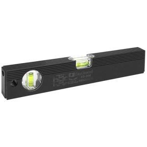 水平器 勾配計 水準器 レベル 黒色 300mm (建築・土木・配管・電気等の工事で水平・垂直・45度)|diy-tatsu