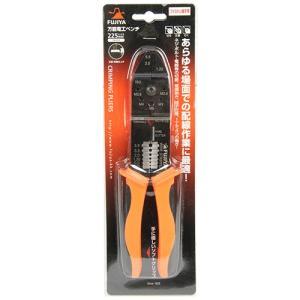電工ペンチ 225mm (ファストン端子圧着/被覆剥き/切断)[内線工事 電設工具 圧着工具] diy-tatsu