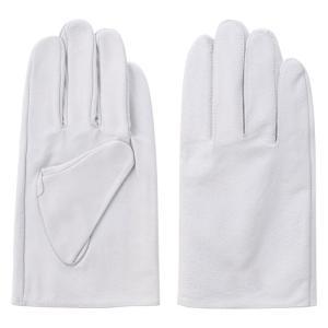 (作業手袋 革) 豚皮クレスト ホワイト(Lサイズ)|diy-tatsu