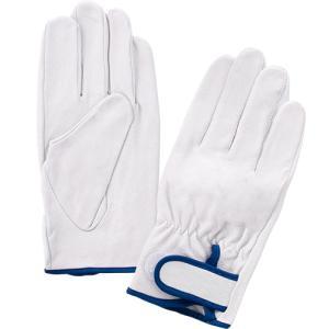 (作業手袋 革) 豚皮レインジャー型 ホワイト(Lサイズ)|diy-tatsu