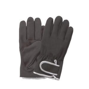 (作業手袋 革 合成・人工皮革) 耐摩耗 内縫い マジック付き (Lサイズ)|diy-tatsu