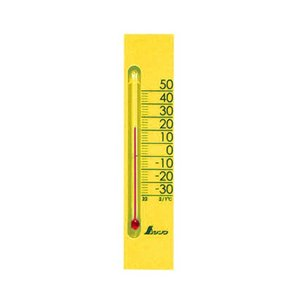 温度計 シンワ温度計 マグネット付 プチサーモスクエア 縦型 135mm イエロー (ご家庭・教室・オフィス)|diy-tatsu