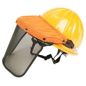 ヘルメット/防災面付きヘルメット 視界クリア シールド&ヘルメットセット (林業/草刈り機 芝刈り機 チェーンソー) diy-tatsu