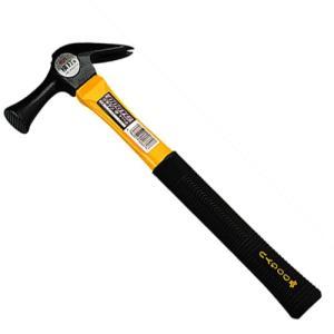 (ハンマー) 仮枠ハンマー 金槌 グラスファイバー柄 340×137mm (コンパクト/短柄/ゴムグリップ)|diy-tatsu