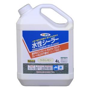 アサヒペン 水性シーラー ライトレモン 4L プライマー 塗料 下塗り