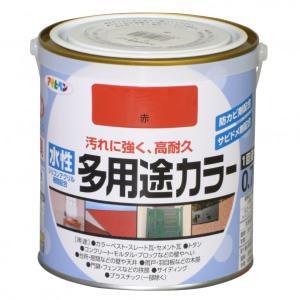 アサヒペン 水性多用途カラー 赤 0.7L