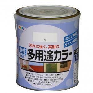 アサヒペン 水性多用途カラー 白 1.6L