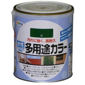 アサヒペン 水性多用途カラー 緑 1.6L