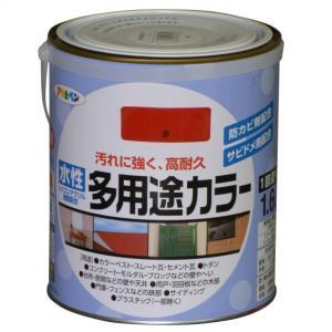 アサヒペン 水性多用途カラー 赤 1.6L