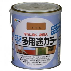 アサヒペン 水性多用途カラー カーキー 1.6L