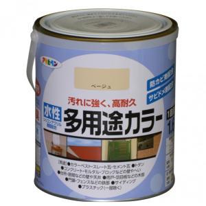 アサヒペン 水性多用途カラー ベージュ 1.6L