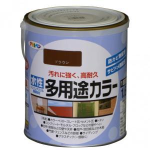 アサヒペン 水性多用途カラー ブラウン 1.6L