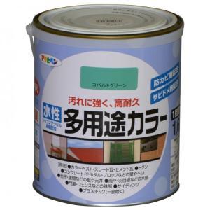 アサヒペン 水性多用途カラー コバルトグリーン 1.6L