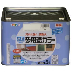 アサヒペン 水性多用途カラー 白 5L