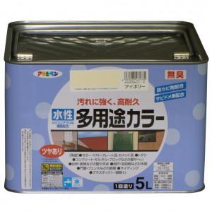 アサヒペン 水性多用途カラー アイボリー 5L