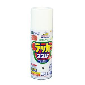 アサヒペン アスペンラッカースプレー420ml 白 420ml|diy-tool