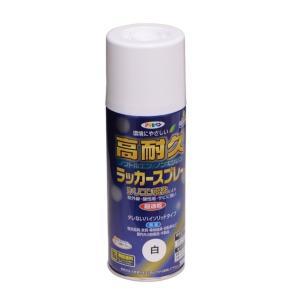 アサヒペン 高耐久ラッカースプレー 白 300ml|diy-tool