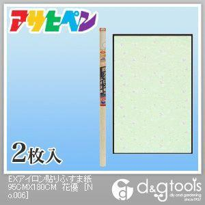 アサヒペン EXアイロン貼りふすま紙 花優 幅95cm×長180cm No.206 2枚|diy-tool