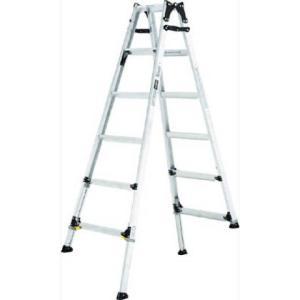 アルインコ 伸縮脚付はしご兼用脚立 ワイドステップ60mm 楽伸   PRW-180F