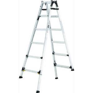 アルインコ 伸縮脚付はしご兼用脚立 ワイドステップ60mm 楽伸   PRW-210F