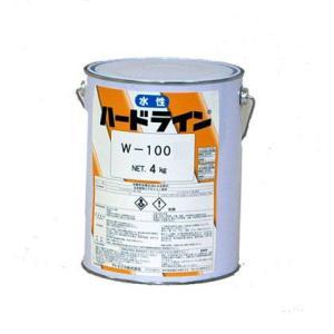 アトミクス 水性ハードライン路面標示用塗料 黄 4kg W-100|diy-tool