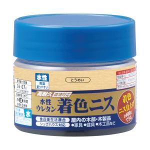 カンペハピオ 水性ウレタン着色ニス  ●特長 臭いが少なく、塗りやすい水性ニスです。 摩耗や衝撃に強...
