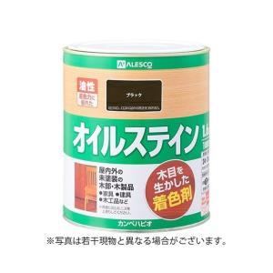 カンペハピオ オイルステインA木目を生かした着色剤 ブラック 1.6Lの商品画像|ナビ