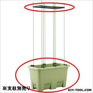アップルウェアー 楽々菜園深型プランター(植木鉢)22L(※支柱は別売) サラダグリーン 600|diy-tool