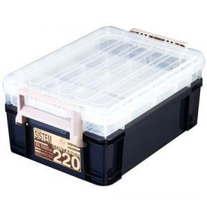 アステージ システムコンテナ ブルー 379×558×245mm 220 diy-tool