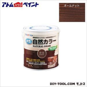 アトムハウスペイント 水性自然カラー 天然油脂ステイン 自然塗料 オールナット 120ML