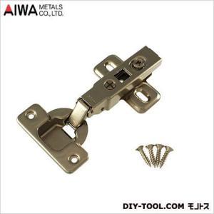アイワ金属/AIWA ブルムスライド蝶番 丁番 ワンタッチ 全かぶせ キャッチ付 35mm  AP-1051C