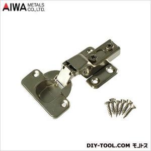 アイワ金属/AIWA スライド蝶番 丁番  半かぶせ キャッチ付 35mm  AP-1033C