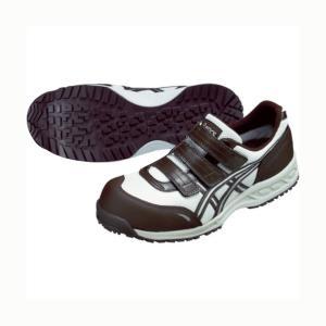 アシックス 【在庫限り特価】作業用靴ウィンジョブ41L 0229アイボリー×コーヒーブラウン 325 x 196 x 120 mm FIS41L.02|diy-tool