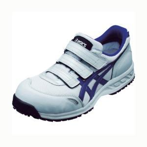 アシックス 作業用靴ウィンジョブ41L ライトグレー×ネイビーブルー 23.5cm FIS41L.1350-23.5 1足|diy-tool