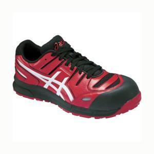 アシックス ウィンジョブ CP103 作業用靴 レッド×ホワイト 27cm FCP103.2301 27.0 1|diy-tool
