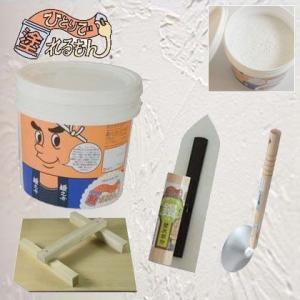 DIY FACTORY オリジナル ひとりで塗れるもんで仕上げるあったら便利な塗り材キットコテノスケ ピュアホワイト 22kg|diy-tool